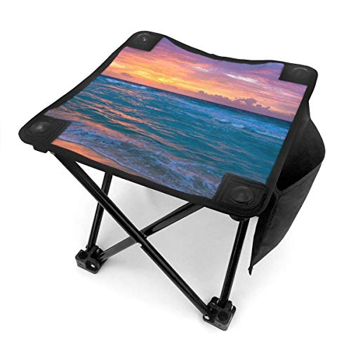 End Nazi Tabouret de Camping chaises Pliantes Sunset Surf Waves Ocean Beach Siège de Chaise Portable