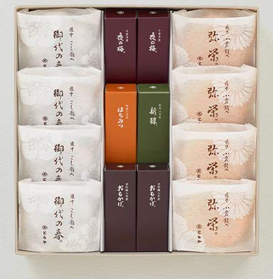 【弔事用包装のみ】とらや 羊羹・最中詰合せ 3号(白茶) ショップ袋付き 贈答 ♪