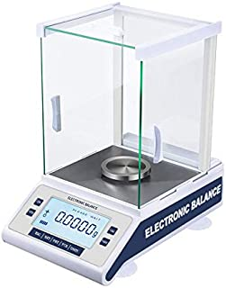 Fristaden Lab Internal Calibration Analytical Balance 210g x 0.1mg | Microgram Scientific Scale | 0.1mg (0.0001g) Precision | High Accuracy Electromagnetic Force Sensor | LCD Digital Display