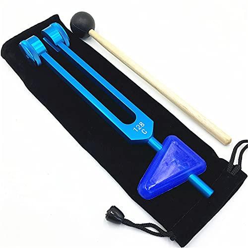 QJHP Kit de Martillo de Reflejo nervioso 2 en 1, Martillo de Reflejo de tendón de Dispositivo de diagnóstico para Martillo de Reflejo de tendón de reacción epidérmica de nervio tendinoso,Azul