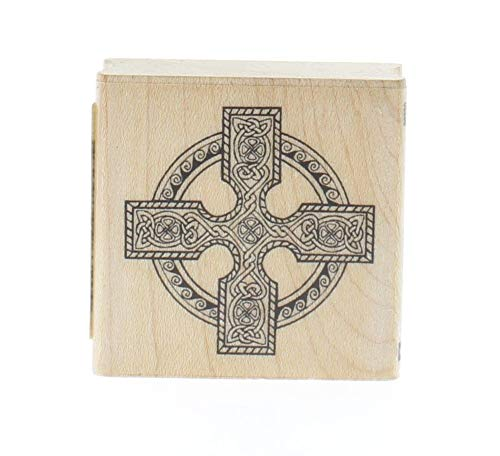 ShopForAllYou Stamping & Embossing Celtic Cross with Knot Work Wooden Rubber Stamp