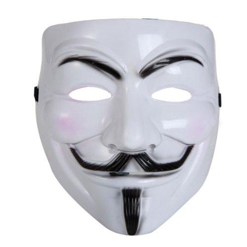BestOfferBuy V per Vendetta Maschera di Plastica Costume di Carnevale Halloween Bianca