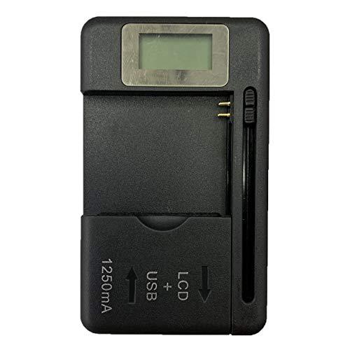 Ba30DEllylelly Cargador de batería móvil Universal Pantalla indicadora LCD para teléfonos móviles con Cargador de Puerto USB para la mayoría de Las baterías de Iones de Litio