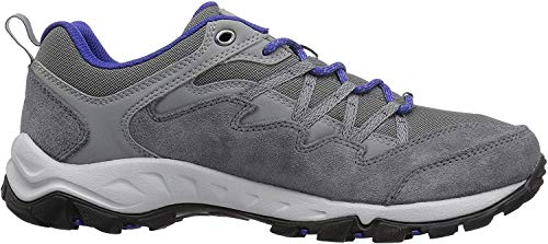 Columbia Women's WAHKEENA Hiking Shoe, ti Grey Steel, Clematis Blue, 8.5 Regular US
