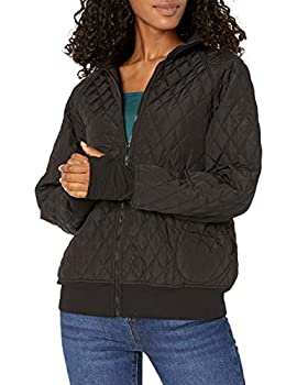 Norma Kamali Women s Quilted Bomber Jacket Black S/36