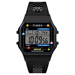 Timex T80 x PAC-MAN 34mm Watch – Black with Stainless Steel Bracelet