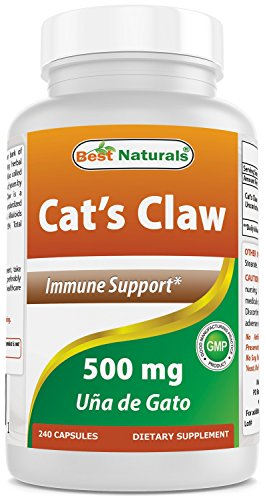 Best Naturals Cat's Claw Capsule, 500 mg, 240 Count