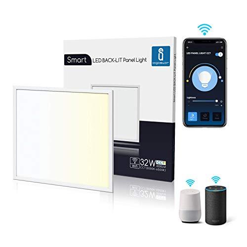 Aigostar Panel LED inteligente WiFi, 32W, CCT. Regulable de luz cálida a...