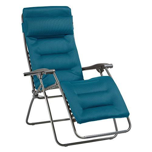 Lafuma Relax-Liegestuhl, Klappbar und verstellbar, RSX Clip, Air Comfort, Blau, LFM2038-8721