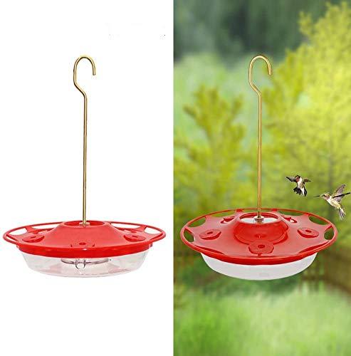 Juegoal Hummingbird Feeder with 5 Feeding Ports, Hanging Design for Birds Lover, Perfect for Outdoor Patio Garden(12 oz)