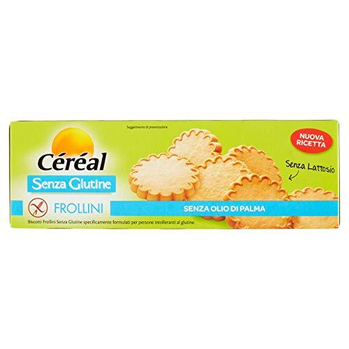 Céréal 205765 Frollini senza Glutine - senza Lattosio - Biscotti Colazione - Biscotti da Te - 120 G