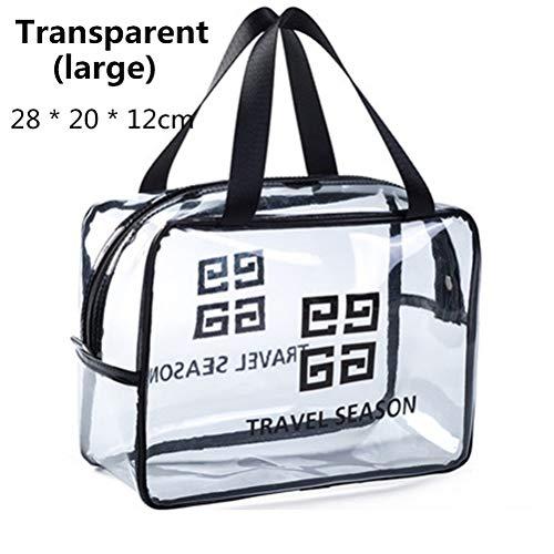 6P6 Net Red Cosmetic Bag Ins Wind Super Portable Femme Voyage Feu Grande Capacité De Lavage Transparent Sac Étanche Boîte De Rangement Sac,C3