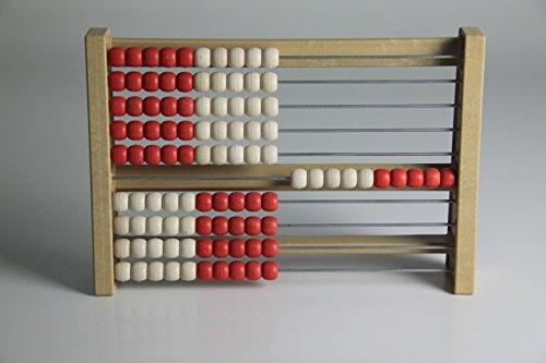 WISSNER - Zählrahmen in red and white, Größe 100 balls