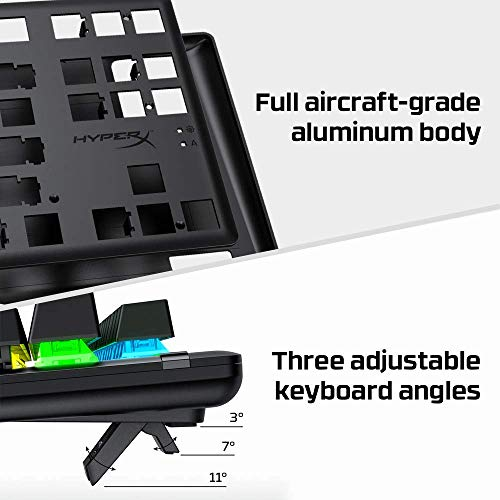 HyperX HX-KB7RDX-US Alloy Origins Core, RGB Mechanische Gaming Tastatur, Tenkeyless, HyperX Red switches (US Layout)