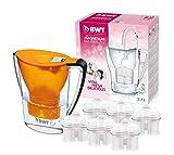 BWT Penguin Electrónica – Jarra filtradora de agua con magnesio + Pack 6 filtros jarra de agua, 2,7 L Naranja