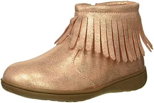 Carter's Girls' Cata3 Rosegold Fringe Chukka Boot, Rose Gold, 6 M US Toddler
