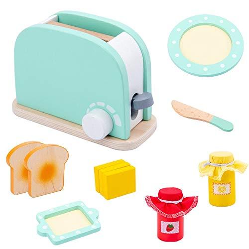 FEICHAIQAZ, máquina de Pan de simulación de Madera para niños, Juguete Educativo de café, Regalo para niños, niñas, máquina de Cocina, Comida, Juguete de simulación, Juego de Roles
