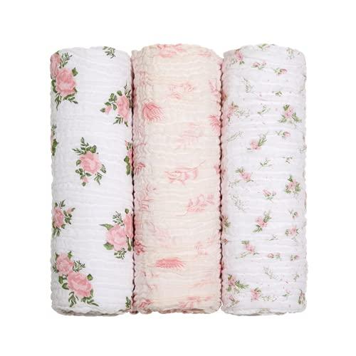 Cueiro Swaddle Soft Bamboo Mami Contem 03 Unidades, Papi Textil, Feminino, 1.20M X 1.20M, Pacote de 3