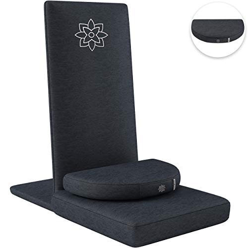 Mindful and Modern Folding Adjustable Pro Meditation Chair - Meditation Seat with Back Support and...