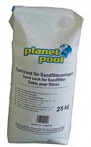 Planet Pool Spezial Quarzfiltersand Körnung 0,4 bis 0,8 mm 25 kg