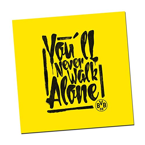 Borussia Dortmund You'll Never Walk Alone-Kunstdruck one Size