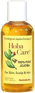 The Jojoba Company Pesticide-Free HobaCare Jojoba 4.2 oz. (125 mL) – Pure Jojoba for Face and Skin – Essential Jojoba for Hair, Scalp, and Cuticles