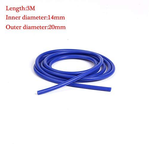 RONSHIN Parts - Tubo de Silicona para Manguera de Coche (3 m, 3 mm, 4 mm, 6 mm, 8 mm, 10 mm, 14 mm, 16 mm, 20 mm)