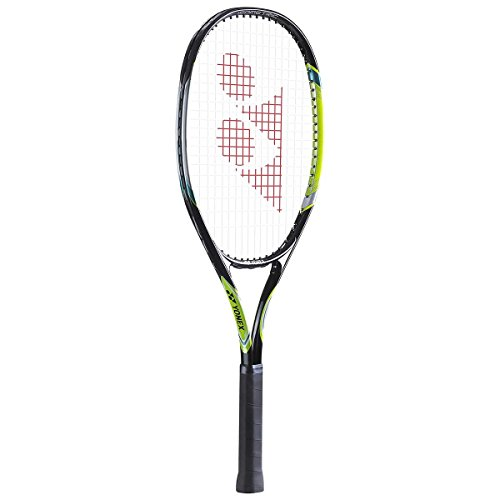 Yonex E Zone 01 Aluminum Tennis Racquet, 4 3/8-inch (Dark Gun/Lime)