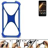 K-S-Trade® Handyhülle Für Allview P9 Energy Mini Silikon Schutz Hülle Cover Case Bumper Silikoncase TPU Softcase Schutzhülle Smartphone Stoßschutz, Blau (1x),