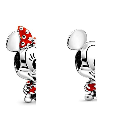 LILANG Pandora 925 Schmuck Armband Natur Sterling Silber Perle Maus Rote Hose Gepunktetes Kleid Bogen Charm Fit Mode Pan Armreif Geeignet Für Frauen DIY Geschenk