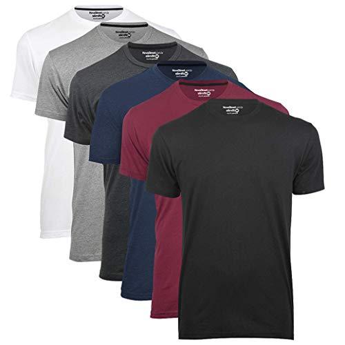 Kit 6 Camisetas Básicas Masculinas Lisas Confort Novastreet, Opção 1 - Cores da foto; Tamanho:M