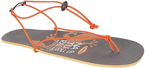 Lizard Rollup Sandale, Grey-orange, EU 42
