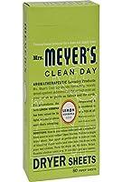 Mrs. Meyers Dryer Sheets Lmn Vrbna 80 Sheets, by Mrs. Meyers