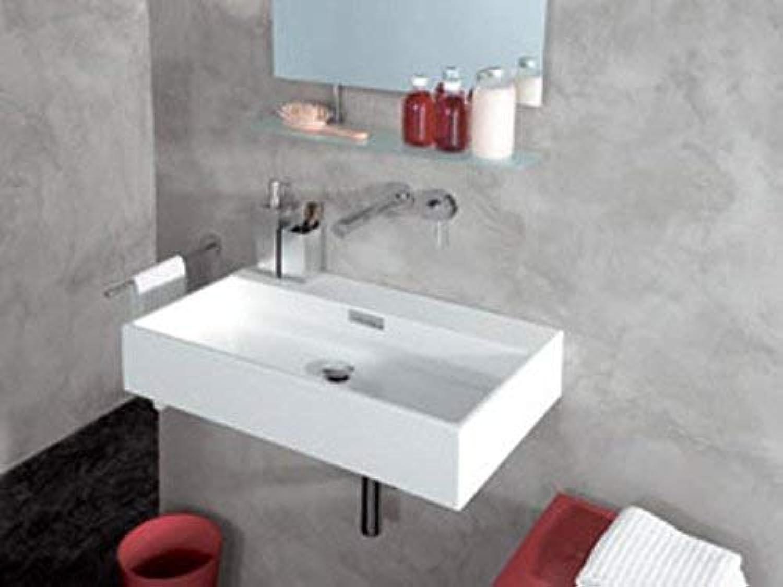 LineaBeta Design Keramikwaschbecken Waschbecken 70cm ohne Hahnloch, 537101.09 wei