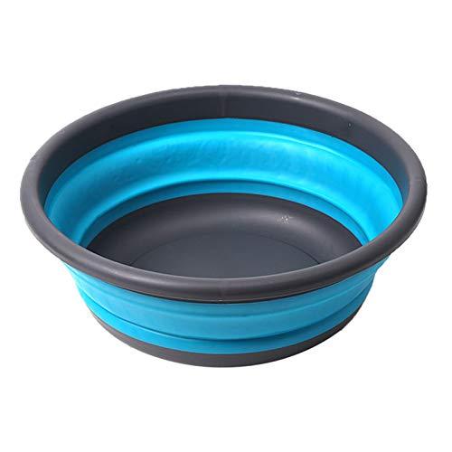 Lavar los platos de verduras Tazón portátil multifuncional Ronda camping lavar la fruta Cuenca Cuencas portable plegable 5L / 9L for el hogar cocina al aire libre Tra limpieza for la casa al aire libr