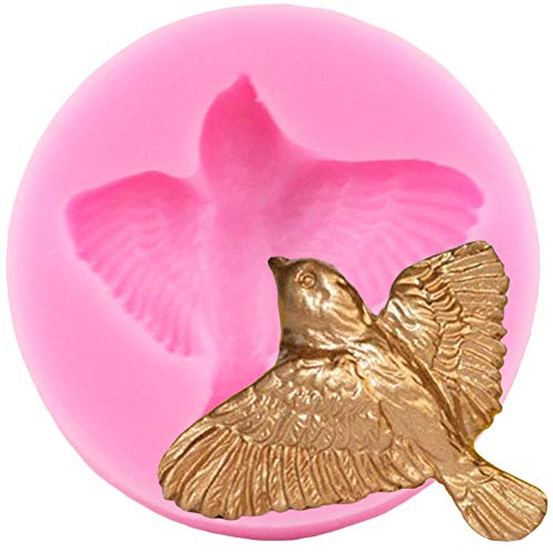 JACKWS Bird Chocolate Fondant Mold 3D Silicone Polymer Clay Molds Cake Baking Candy Decorating Tools
