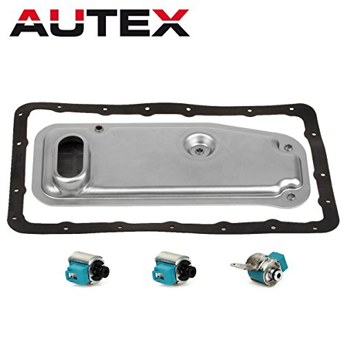 AUTEX A340E A340F Transmission Master Solenoid Shift TCC with Filter Gasket Kit Set Compatible With 1994-1999 Toyota Lexus