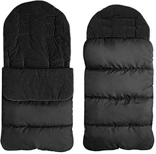 Wean Cochecito de bebé con forro acolchado para cochecito de bebé, resistente al viento, cálido, almohadilla de algodón grueso, forro cómodo y acogedor, saco de dormir