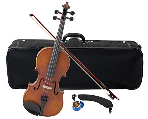 Classic Cantabile Student Comfort Violine 3/4 (Einsteiger/Schülerinstrument, Geige inkl. Luxus Etui und Bogen, Decke aus vollmassiver Fichte, Boden, Zarge, und Steg aus Ahorn)