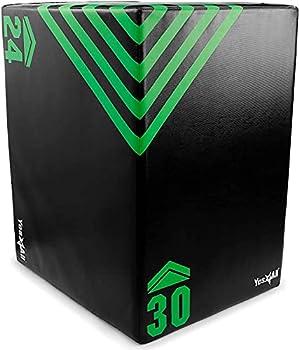 Yes4All 3 in 1 Foam Plyo Box Plyometric Box Platform for Crossfit Jump Training MMA & Conditioning  Standard - 30  x 24  x 20  - 16Lb