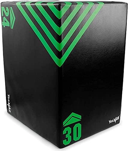 Yes4All 3 in 1 Foam Plyo Box, Plyometric Box Platform for Crossfit, Jump Training, MMA & Conditioning (Standard - 30' x 24' x 20' - 16Lb)