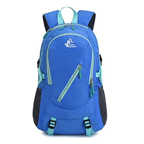 UKKD backpack Outdoor Camping Backpack Hiking Travel Bag Ultra Light Mountaineering Waterproof Hiking Riding Backpack-Blue