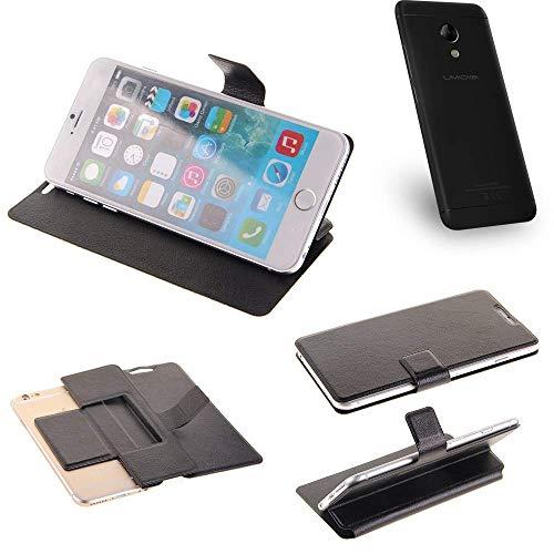 K-S-Trade® Schutz Hülle Für UMIDIGI C2 Schutzhülle Flip Cover Handy Wallet Case Slim Handyhülle Bookstyle Schwarz