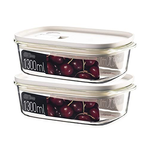 Read About Ping Bu Qing Yun Fresh-keeping box, heat-resistant glass fresh-keeping box square lunch b...