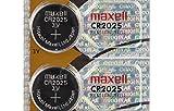2 MAXELL CR2025 3 Volt Lithium Batteries (2 Batteries) Hologram Package EXP: 2020