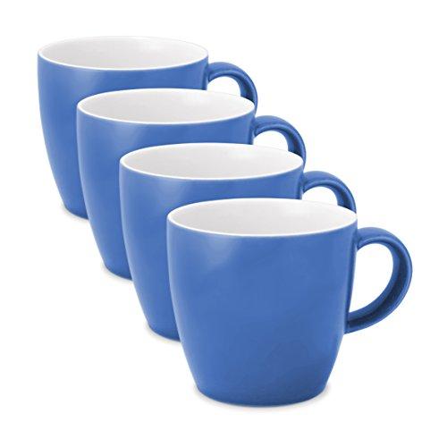 FORLIFE Uni Espresso/Oolong Tee Tasse (Set von 4), keramik, blau, 3.5 oz.