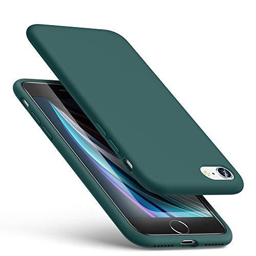 ESR Yippee Hülle kompatibel mit iPhone SE(2020)/8/7, Liquid Silikon Hülle [Angenehmer Handgriff] [Bildschirm und Kameraschutz] [Samtig-weiches Innenfutter] [Stoßabsorbierend] für iPhone SE/8/7 2020 - Grün