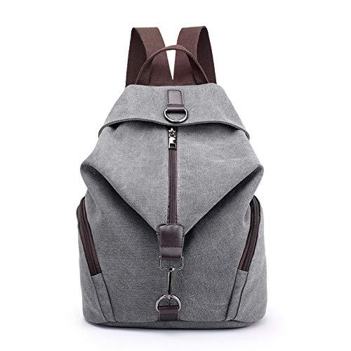 Hanggg Borsa a tracolla in tela retrò casual moda coreana borsa zaino casual college vento