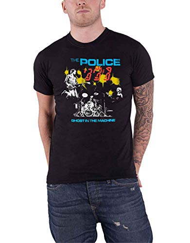 The Police Camiseta Ghost In The Machine Live Band Logo Nue Oficial para Hombre Negro L