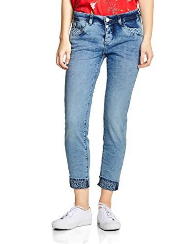 Street One Damen 372123 Jane Slim Jeans, Fancy Light Blue Washed, 30W/28L
